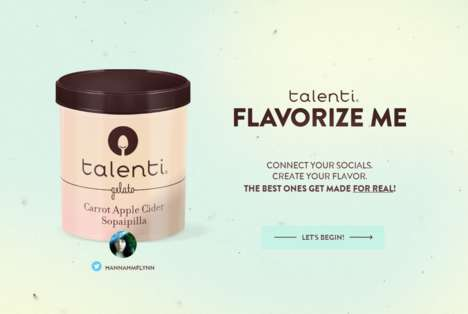 Custom Dessert Campaigns - Talenti Uses Social Media to Match People to Favorite Ice Cream Flavors