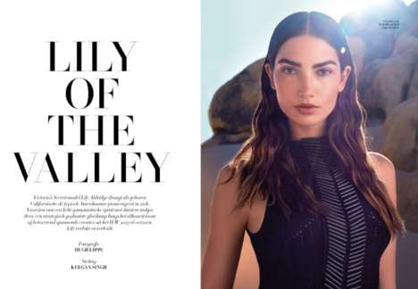 Gothic Desert Photoshoots - The Lily Aldridge L'Officiel Netherlands Editorial is High Fashion