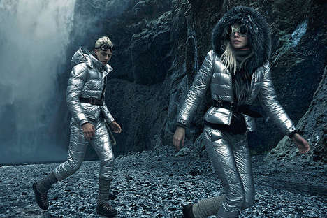 Sci-Fi Winter Fashion - The Moncler Fall/Winter Campaign Stars Lucky Blue Smith and Pyper America