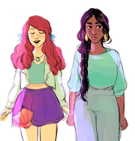Contemporary Disney Princesses - These Casual Disney Princesses Look Like Modern Day Teenagers