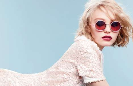 Pearl Eyewear Ads - 16-Year-Old Lily-Rose Depp Stars in Her First Major Campaign for Chanel