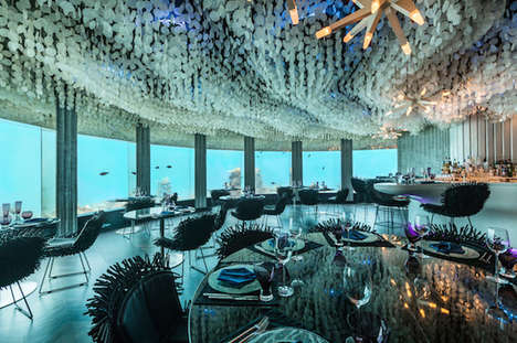 Romantic Subaquatic Dining - The Per Aquum Niyama Maldives Underwater Restaurant has Stunning Views