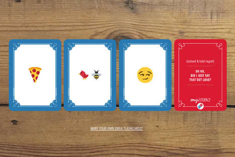 Emoji-Themed Flashcards - These Domino's Flashcards are Intended to Increase Emoji Literacy