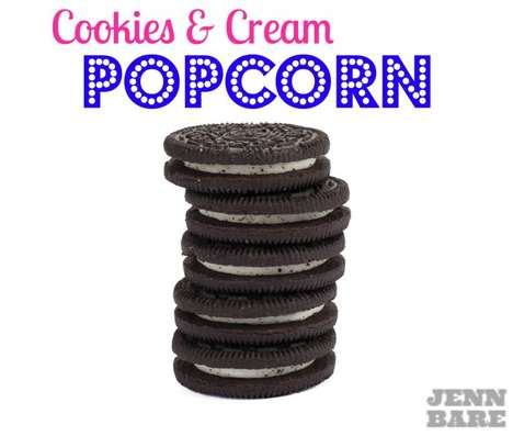 Cookie-Covered Popcorn - This Recipe Celebrates National Junk Food Day with a Sweet & Salty Treat