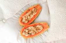 Fruity Smoothie Boats - This Hollowed Out Papaya Recipe is Good Enough to Drink Smoothies Out Of