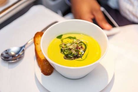 Gourmet Airplane Meals - Qatar Airways Teams Up with Nobu Chefs for Tasty Food Offerings