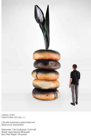 Gigantic Bagel Installations - The Hanna Liden 'Everything' Sculpture Features a Big Breakfast Dish