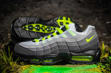 Electrifying Iconic Sneakers - A Legendary Nike Shoe Makes a Colorful Return as the Neon Air Max 95