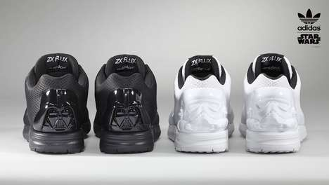 Sporty Sci-Fi Sneakers - The Star Wars x Adidas ZX Flux Collection Portrays Geeky Glamour