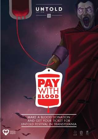 Blood-Bartering Tickets - The Untold Festival Offers Free Tickets as a Reason to Donate Blood