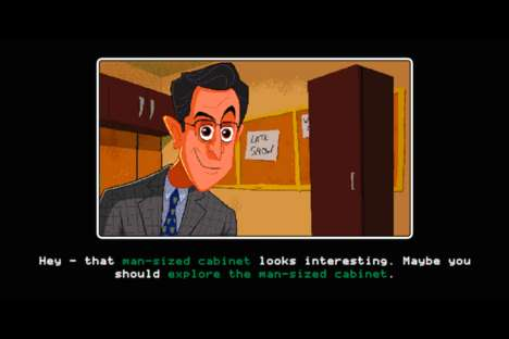 Text-Based Talkshow Games - The Stephen Colbert Late Show is Promoted with an Adventure Game