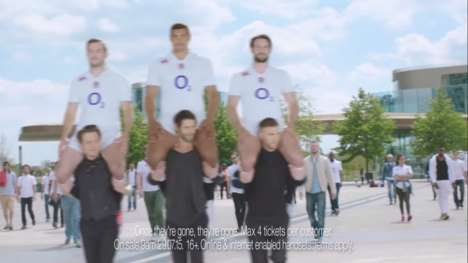 Uplifting Rugby Player Ads - This Humorous Ad Shows England's Rugby Team Being Carried by Fans