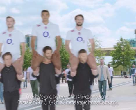 Uplifting Rugby Player Ads