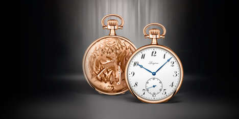 Equestrian-Themed Pocket Watches - These 18-Carat Rose Gold Timepieces Feature Elegant Horse Imagery