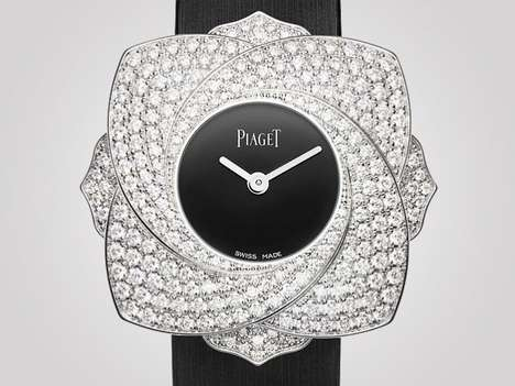 22 Precious Stone-Encrusted Watches - From Discreet Diamond Timepieces to Elegant Emerald Watches