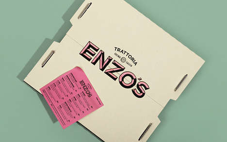 Nostalgic Pizzeria Branding - Enzo's Trattoria Draws Its Aesthetic Inspiration from Vintage Sports