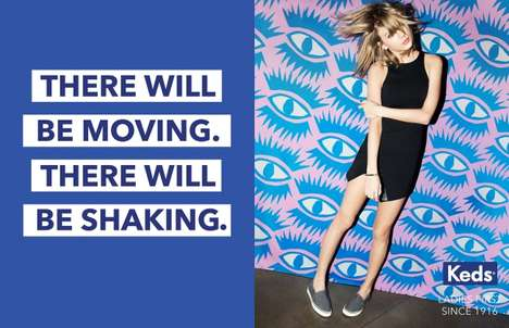 Female-Empowering Footwear Ads - These Keds Ads Feature Female Role Models Such as Taylor Swift