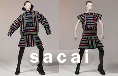 Sculptural Couture Catalogs - The Latest Sacai Collection Boasts Visually Bold Motifs