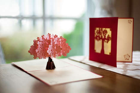 Laser Cut Pop-Up Cards - These Intricate Summer-Themed Pop-Up Cards are Made with Micro Details