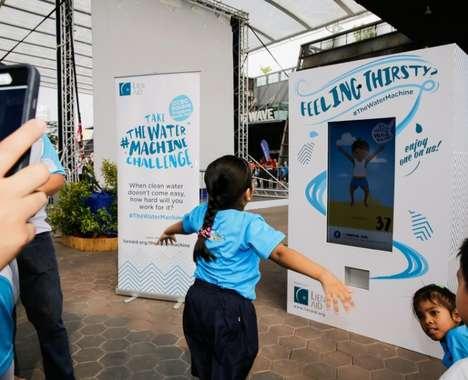 Exercise-Dependendant Water Machines