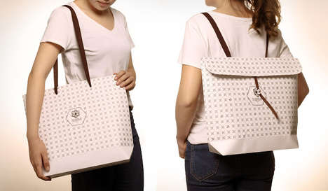 Transformative Shoulder Bags - By Repositioning the Strap, the Be Bag Concept Turns into a Backpack