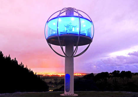 Elevated Housing Domes - This 270 Square Foot Pod Home Resembles an Enlarged Tech-Made Lollipop