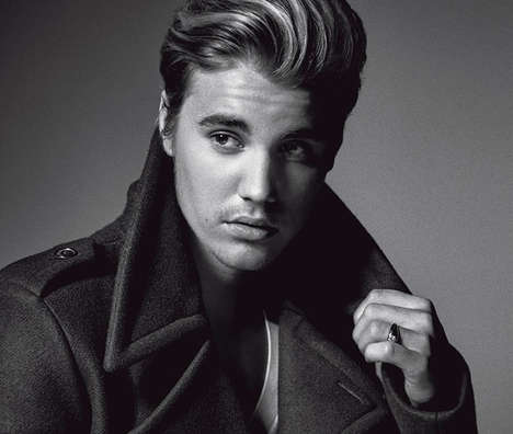 Grown-Up Popstar Portraits - The Justin Bieber L'Uomo Vogue Exclusive is Bold and Rebellious