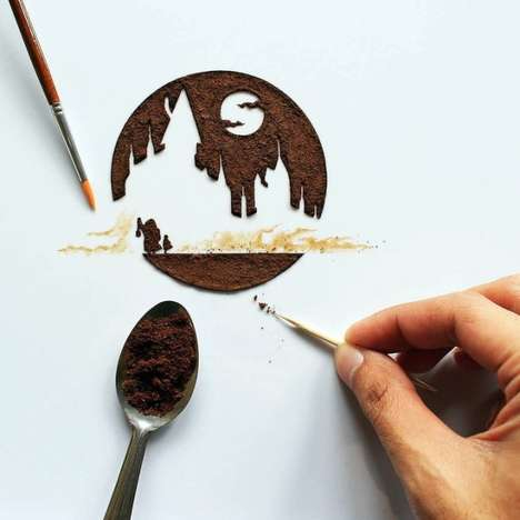 Coffee-Based Artwork - Ghidaq al-Nizar Uses Coffee as Inspiration for His Stunning Artwork