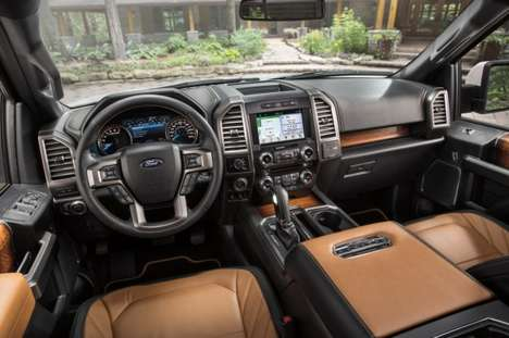 Tech-Savvy Luxury Trucks - The Ford F-150 Limited Features LED Headlights and a 360-Degree Camera