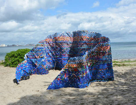 Plastic Bottle Cap Pavilions - This Bottle Cap Structure Sends an Important Message About Pollution