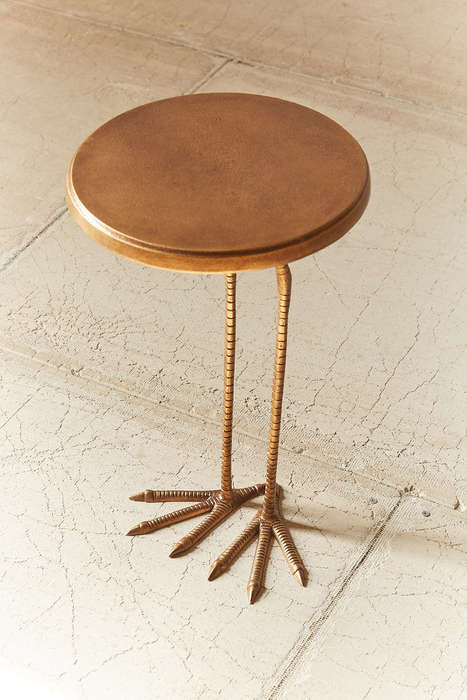 Clawed Table Decor - This Birdy Table from Urban Outfitters is Accented With Artful Legs