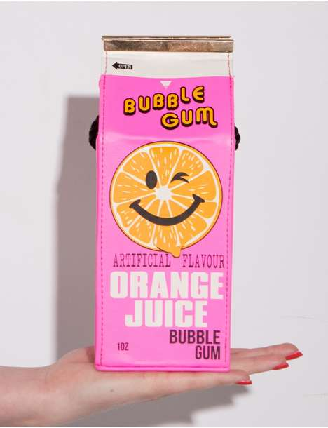 Juicebox Clutch Designs - Pixie Market's Statement Clutch References Drink Packaging
