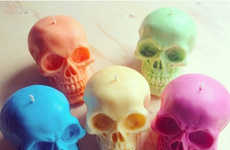 Chromatic Skull Candles