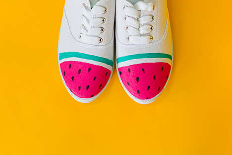 Fruity Sneaker DIYs - Bespoke Bride's Watermelon Sneaker Project is Easy and Inexpensive
