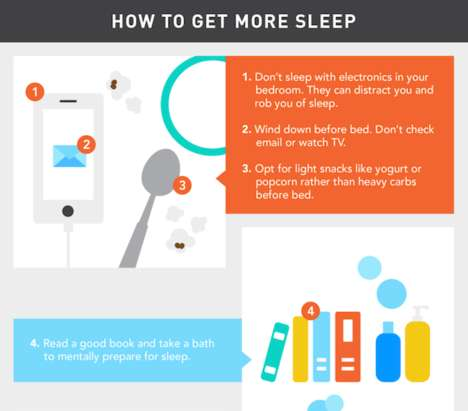 Improved Sleep Charts - This Infographic Suggests Recommendations for Getting Better Sleep
