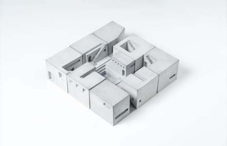 Shrunken Concrete Houses - These Miniature Houses Pay Homage to Famous Concrete Buildings