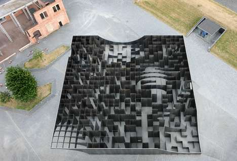 Geometric Mirrored Mazes - This Giant Maze Can be Toured from the Ground or Viewed from Above