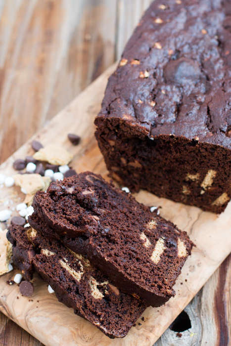 Campire Banana Loafs - This Baked Chocolate Banana Bread Recipe Integrates S'mores Ingredients
