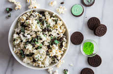 Minty Cookie-Covered Popcorn - This Delicious Popcorn Treat is Infused with Mint Chocolate Cookies