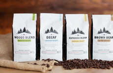 Forest-Inspired Coffee Branding