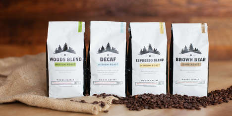 Forest-Inspired Coffee Branding - The Woods Coffee Packing Presents Wilderness Imagery & Rich Tastes