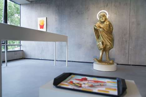 Divine Fast Food Artwork - This Provocative Art Exhibit Turns McDonald's into a Pseudo-Religion