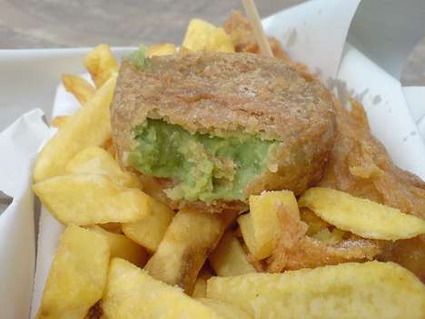 Deep Fried Mushy Peas - L'Alba D'Oro Serves Their Green Side Dish in a Savory Fritter Format