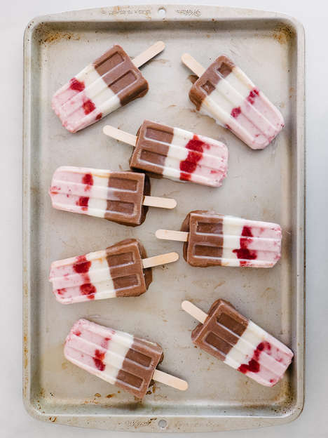 DIY Tricolor Ice Pops - These Neapolitan Popsicles Feature Chocolate, Strawberry and Vanilla