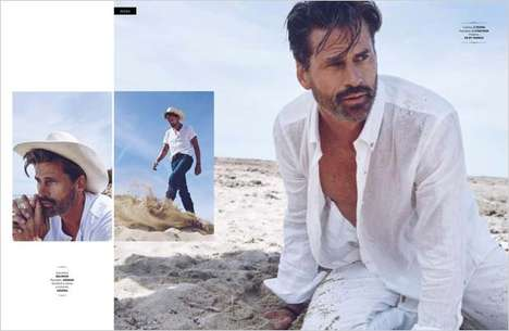 Rugged Gentleman Editorials - Mark Vanderloo Stars in Gentleman Mexico Magazine's Seaside Exclusive