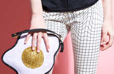 Luna on the Moon's Glitter Fried Egg Clutch Adds Quirk to Any Wardrobe
