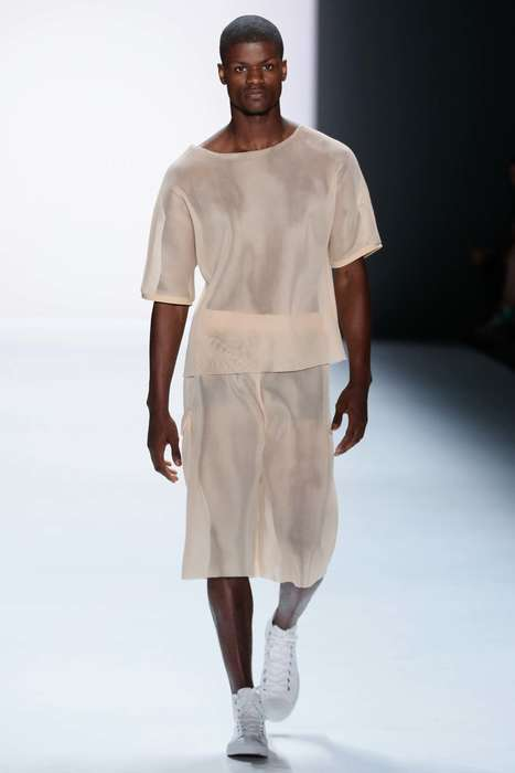 Minimalistic Sheer Apparel - This Vektor S/S Collection Features See-Through Style