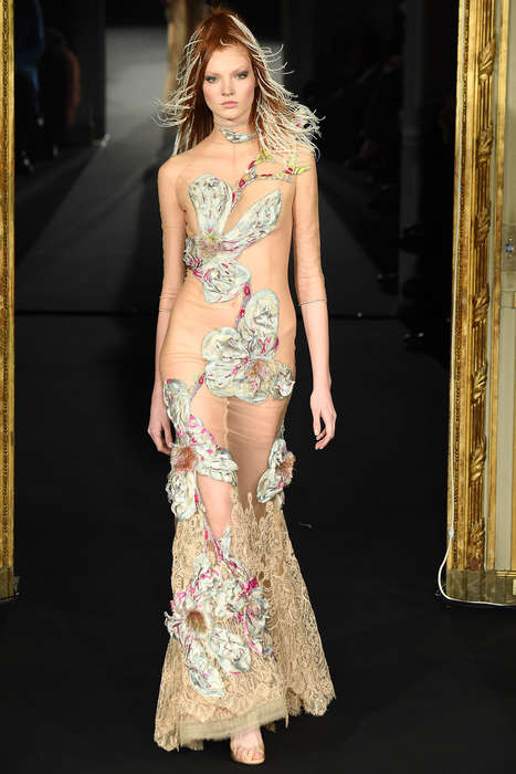 Dramatized Floral Couture - This Alexis Mabille Spring Collection Exaggerates Flowery Fashion