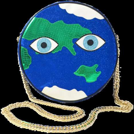 Metallic Earth Clutches - Poppy Lissiman's Mother Earth Clutch Promotes Worldly Style