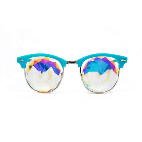 Sleek Kaleidoscopic Sunglasses - The H0les x Colors Eyewear Collection Features Psychedelic Style